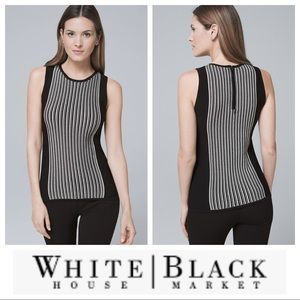 NWT White House BlackMarket Contrast-Panel Sweater